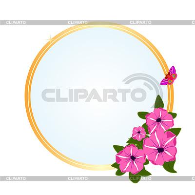 초원 꽃 프레임   벡터 클립 아트  ID 3340894