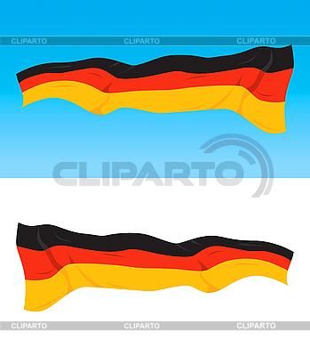 Niemiecka flaga   Klipart wektorowy  ID 3102730