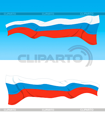 Rosyjska flaga | Klipart wektorowy |ID 3102740