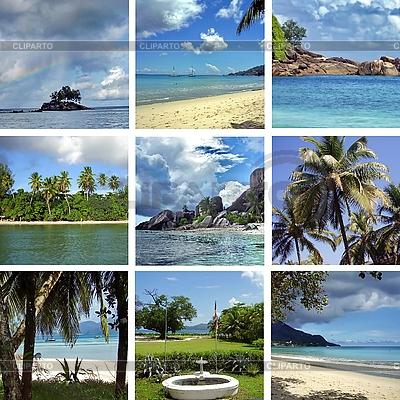 Collage von Bildern aus Seychellen | Foto mit hoher Auflösung |ID 3082966