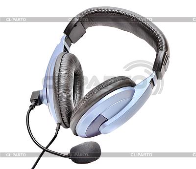 Niebieskie słuchawki | Foto stockowe wysokiej rozdzielczości |ID 3105739