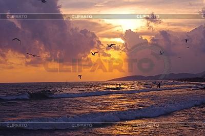 Sonnenuntergang am Abend | Foto mit hoher Auflösung |ID 3105747