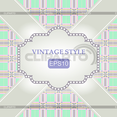 Szablon vintage frame | Klipart wektorowy |ID 3082977