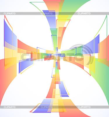 Abstrakcyjna kolorowe tło krzyż | Klipart wektorowy |ID 3083260