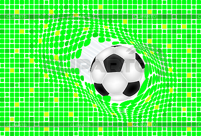 Green background with soccer ball | Stock Vector Graphics |ID 3083296