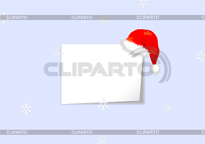 Christmas card with sheet of paper | Stock Vector Graphics |ID 3083365