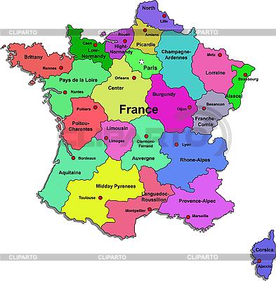 Landkarte von Frankreich | Stock Vektorgrafik |ID 3083435