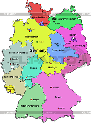 Germany Maps Stock Photos And Vektor EPS Clipart CLIPARTO - Germany map lands