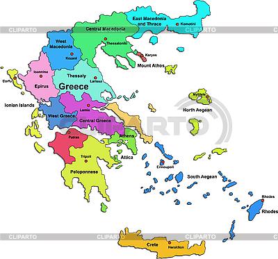 Grecja map | Klipart wektorowy |ID 3083470