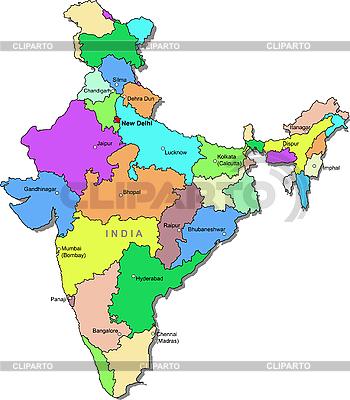 印度地图   向量插图  ID 3083504