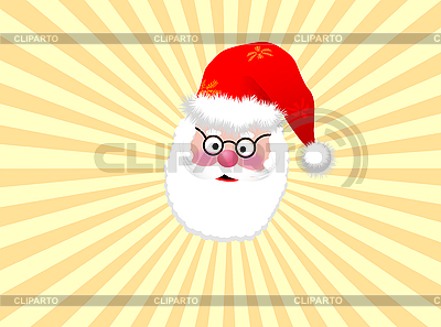 Santa Claus in yellow rays | Stock Vector Graphics |ID 3087385