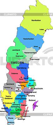 Landkarte von Schweden | Stock Vektorgrafik |ID 3087501
