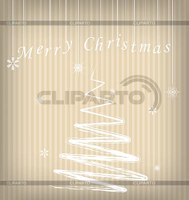 Weihnachtskarte mit stilisierter Tanne | Stock Vektorgrafik |ID 3092511