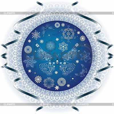 Blue christmas ball | Stock Vector Graphics |ID 3089988