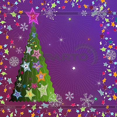 Christmas card with fir tree | Stock Vector Graphics |ID 3090003