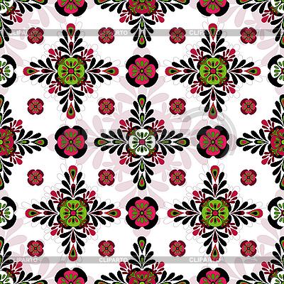 Бесшовная текстура обои с цветами 5
