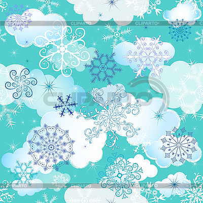 Nahtloses Wintermuster | Stock Vektorgrafik |ID 3090079