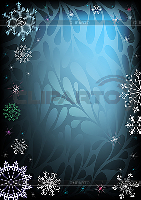 Dark and blue christmas card   Stock Vector Graphics  ID 3090081