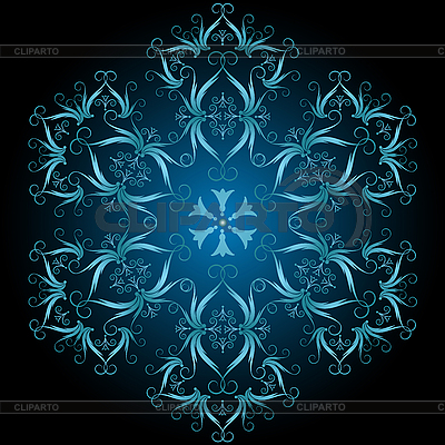 Decorative snowflake   Stock Vector Graphics  ID 3104332