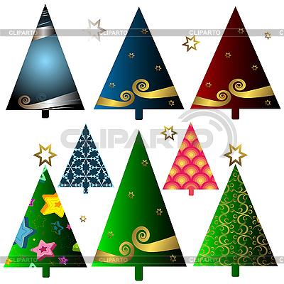 Set of christmas trees | Stock Vector Graphics |ID 3104336