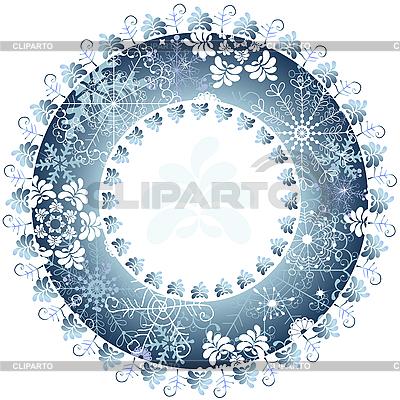 Boże Narodzenie okrągłe ramki z płatki śniegu | Klipart wektorowy |ID 3104877