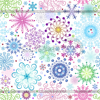 Christmas seamless background of snowflakes | Stock Vector Graphics |ID 3106587