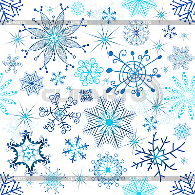 Christmas seamless background of snowflakes | Stock Vector Graphics |ID 3106871
