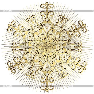 Złoty płatek śniegu | Klipart wektorowy |ID 3108842