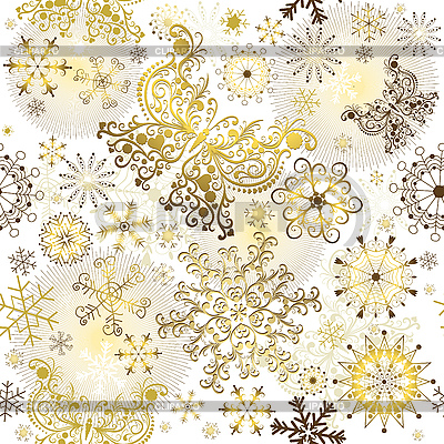Christmas golden pattern | Stock Vector Graphics |ID 3110273