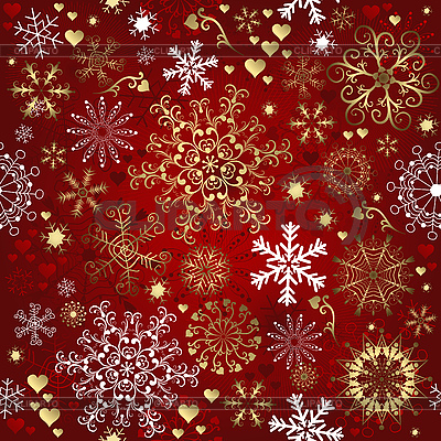 Christmas red seamless pattern | Stock Vector Graphics |ID 3110293