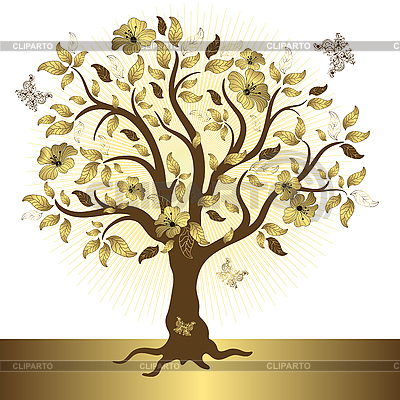 Golden tree | Stock Vector Graphics |ID 3110338