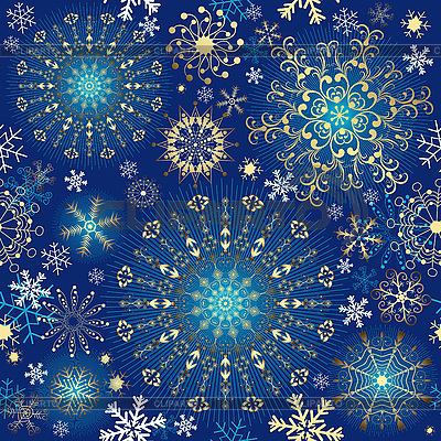 Christmas blue seamless pattern | Stock Vector Graphics |ID 3113087