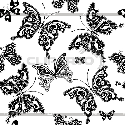 Seamless pattern of butterflies   Stock Vector Graphics  ID 3139390