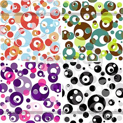 Set von nahtlosen durchscheinenden Mustern | Stock Vektorgrafik |ID 3154712
