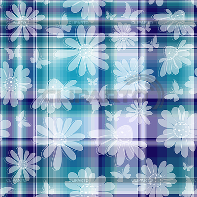 Wiederholendes florales kariertes Muster | Stock Vektorgrafik |ID 3156902