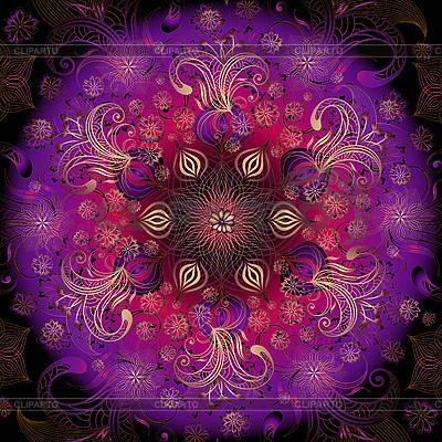 다채로운 꽃 둥근 디자인 | 벡터 클립 아트 |ID 3185192