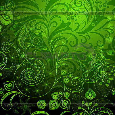Green floral pattern   Stock Vector Graphics  ID 3187422