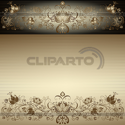 Vintage gold easter frame | Stock Vector Graphics |ID 3197058
