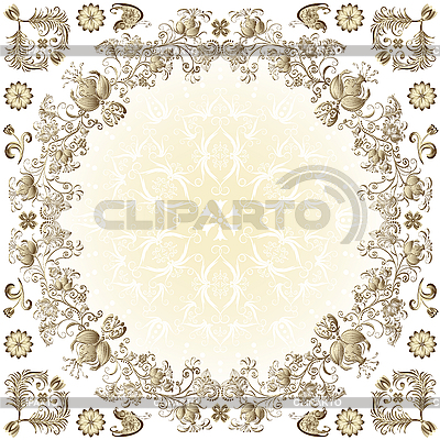 Okrągłe ramki złoto Wielkanoc | Klipart wektorowy |ID 3200577