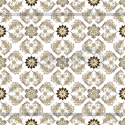 Seamless brown-white vintage pattern | Stock Vector Graphics |ID 3203305