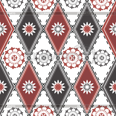 Seamless pattern with rhombuses | Stock Vector Graphics |ID 3226043