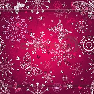 Seamless purple christmas pattern | Stock Vector Graphics |ID 3226187