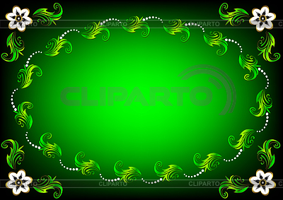 Green Easter flower background | Stock Vector Graphics |ID 3244272