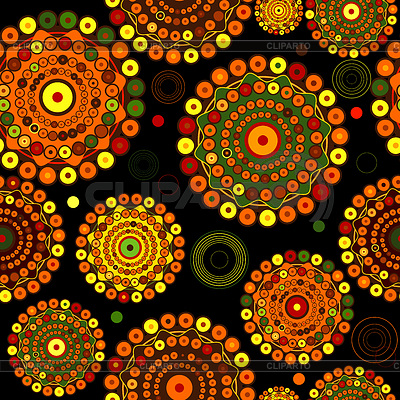 Black seamless pattern with circles | Stock Vector Graphics |ID 3247224