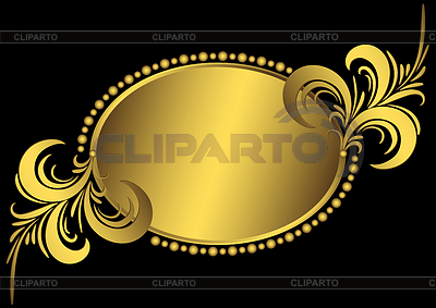 Oval golden vintage frame | Stock Vector Graphics |ID 3247332