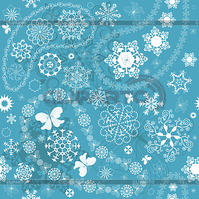 Christmas Seamless blue pattern | Stock Vector Graphics |ID 3247516
