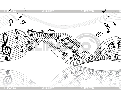 Background of music notes | Stock Vector Graphics |ID 3087952