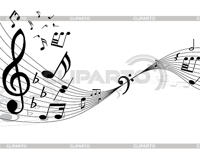 Background of music notes | Stock Vector Graphics |ID 3087958
