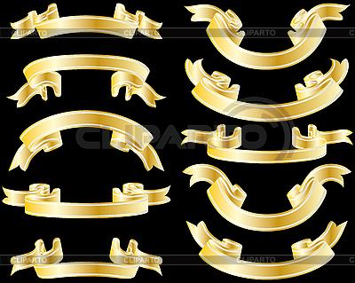 황금 리본 | 벡터 클립 아트 |ID 3087974