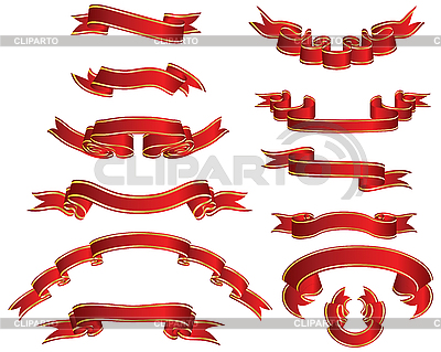 Red ribbons set | Stock Vector Graphics |ID 3088130